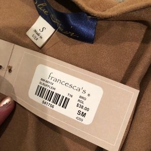 Francesca's Collections Sweaters - NWT Francesca's Long Ruffled Vest